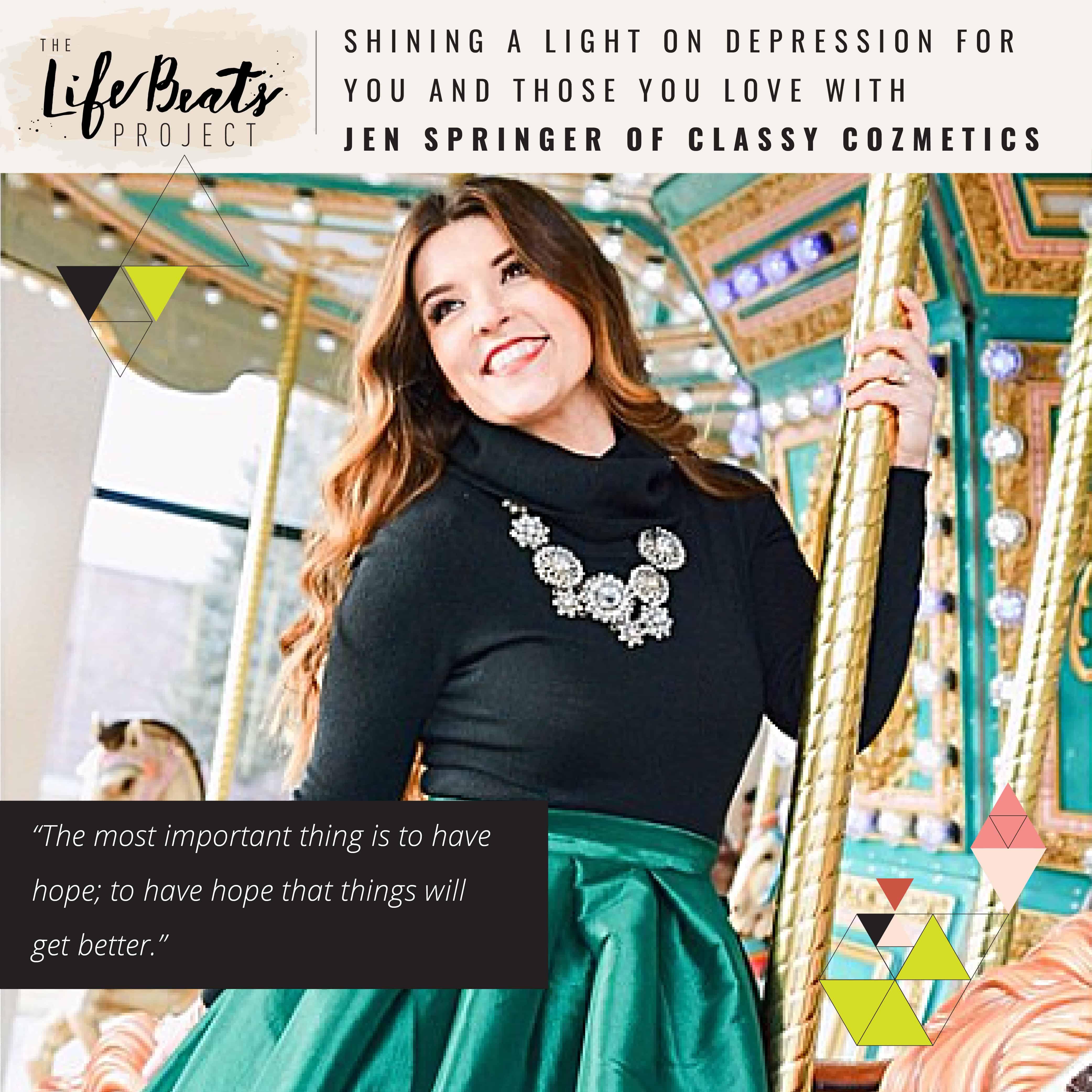 depression help Jen Springer The LifeBeats Project Podcast