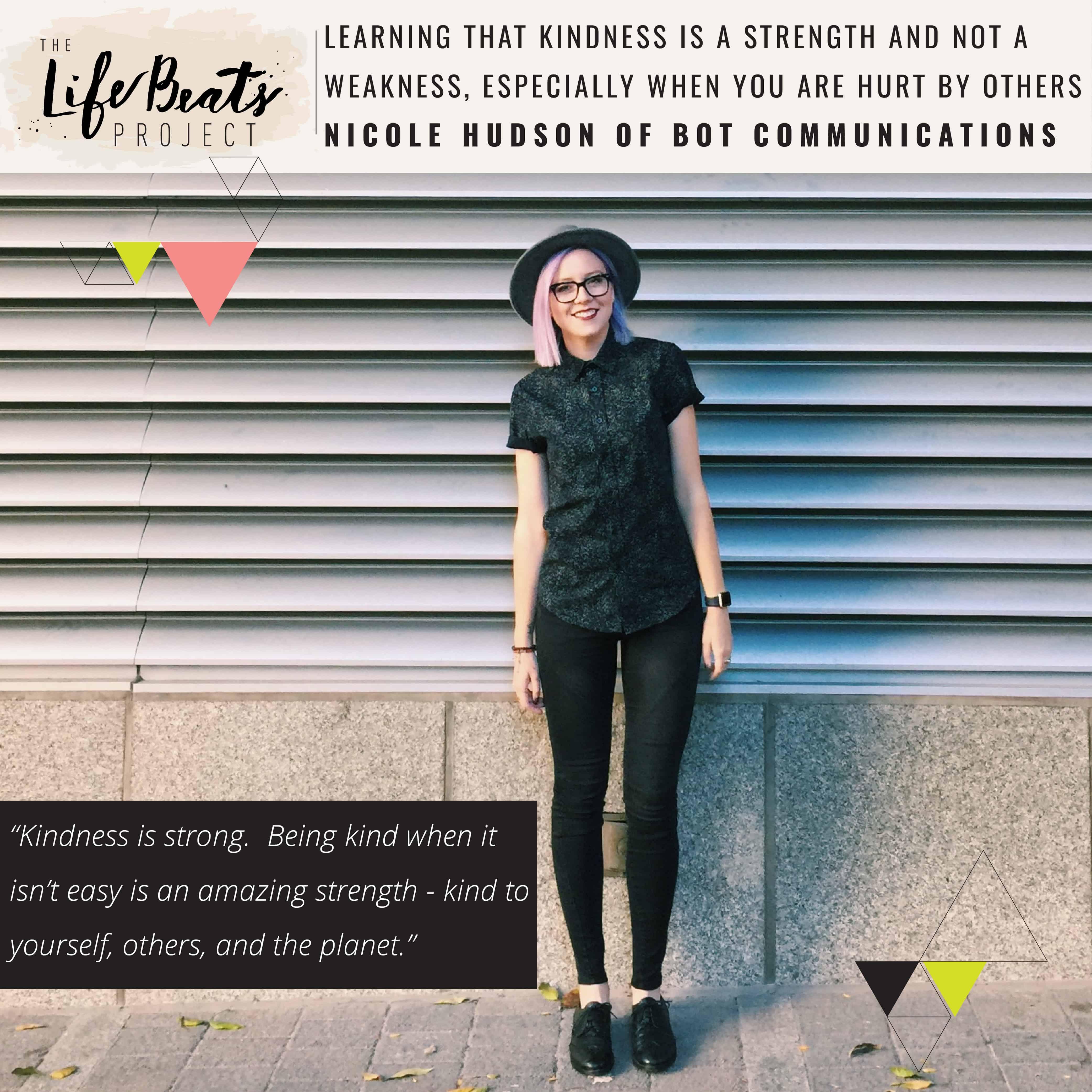 kind kindness hurt affair divorce Nicole Hudson LifeBeats Project Canada entrepreneur workshop