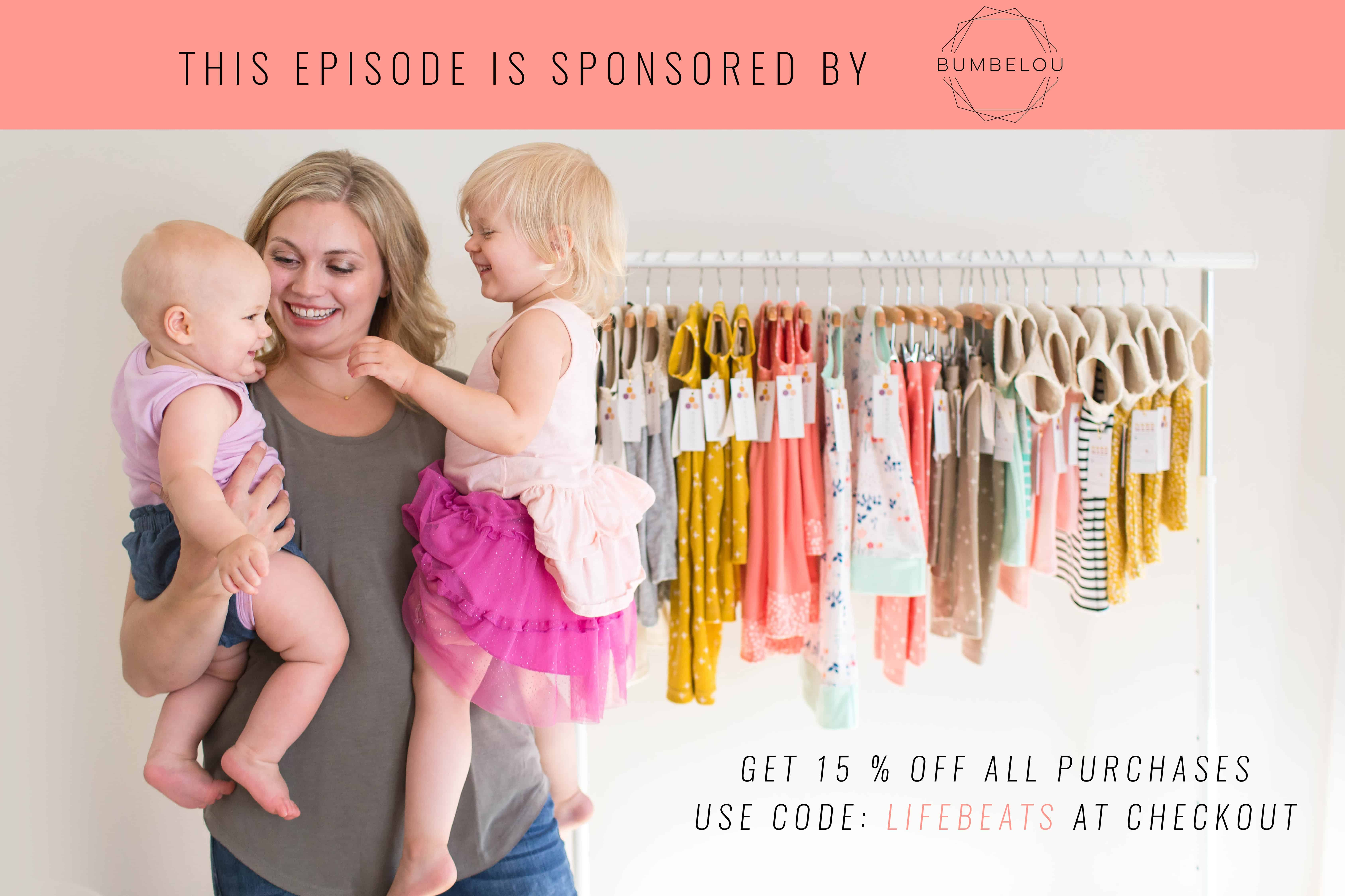 Bumbelou sponsorship children's clothing podcast twirly dresses bows colors of rainbow