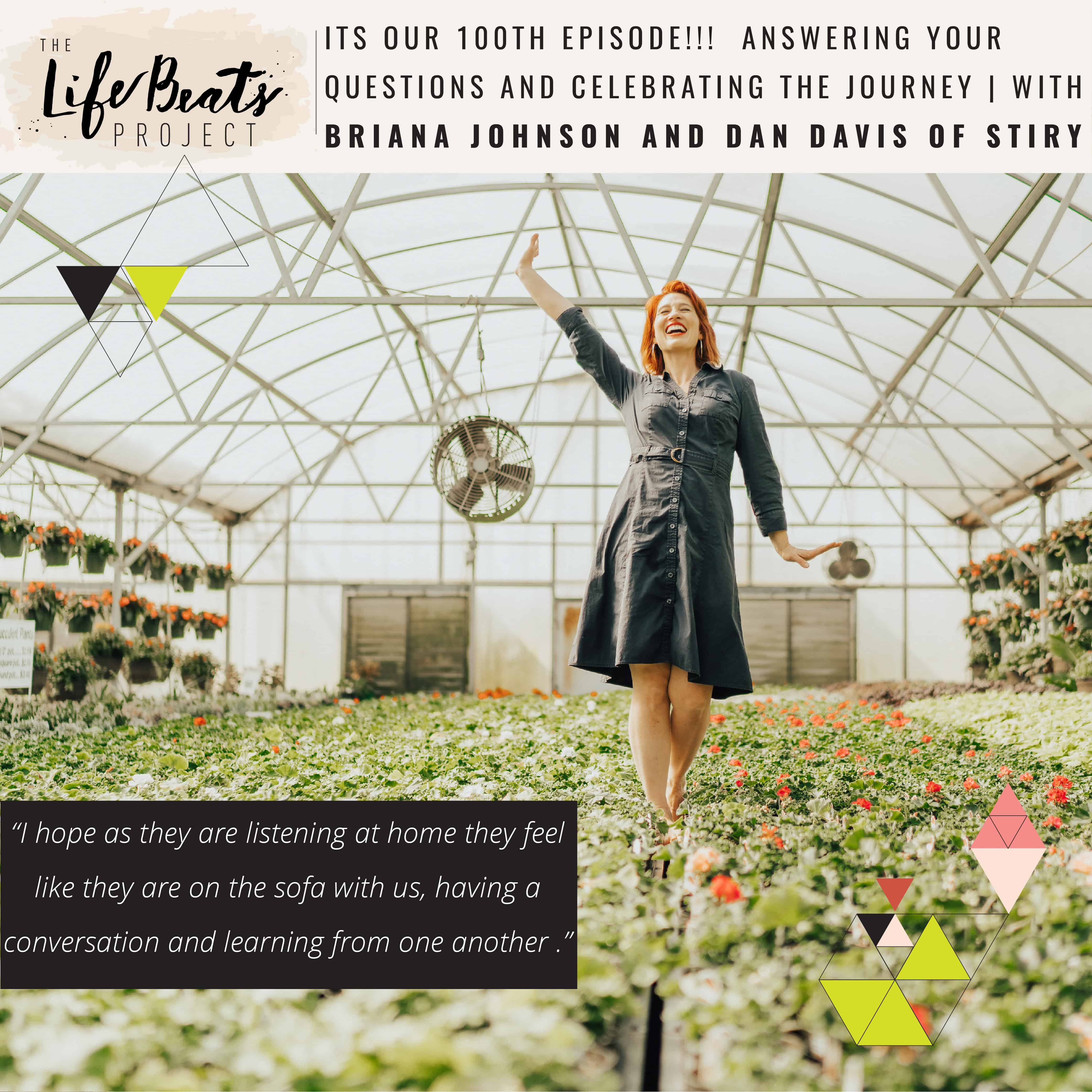 LifeBeats 100 100th episode podcast Briana Johnson Stiry divorce inspiration inspiring single mom